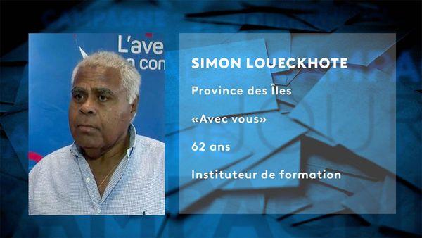 Provinciales 2019: fiche candidat de Simon Loueckhote