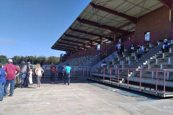 Les tribunes vides lors du Grand prix de la CTM 2021