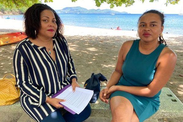 Deux des signataires du manifeste pour la Martinique