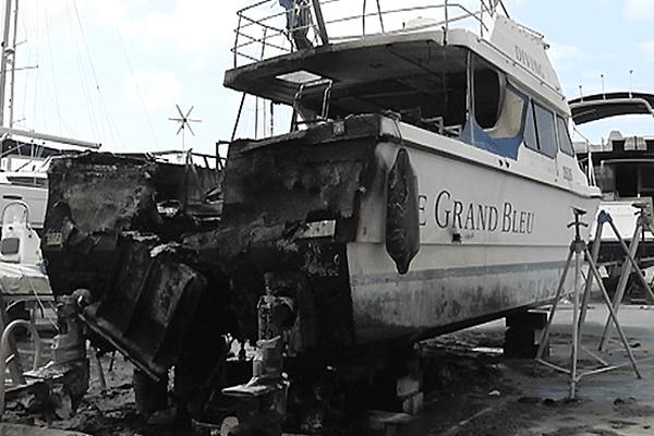 incendie bateau lku