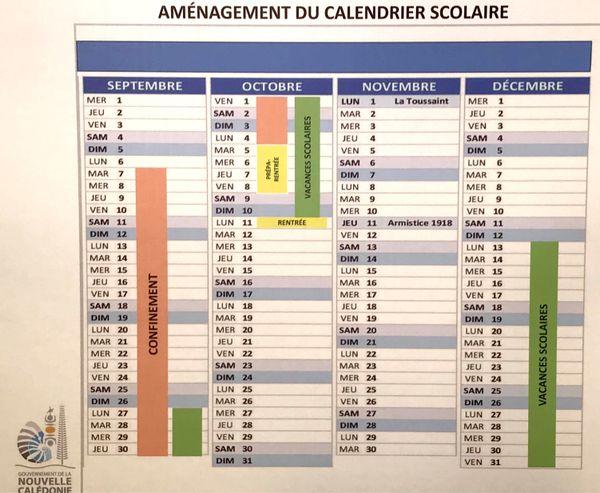 Le changement de calendrier scolaire proposé.
