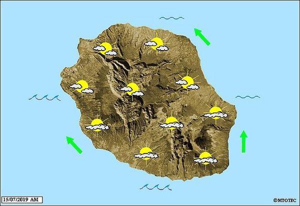 Carte météo 15 juillet 2019