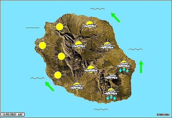 Carte météo 11 janvier 2021