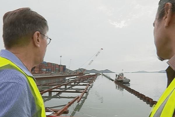 Nouméa : les travaux d'extension du port