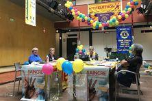 Les membres du Lion's club mobilisés comme chaque année pour le 3637 dans l'atrium de Guyane la 1ère