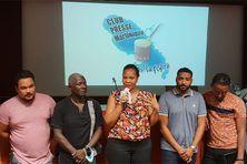 Le nouveau bureau du Club Presse Martinique avec sa présidente Déborah Ambroisine.