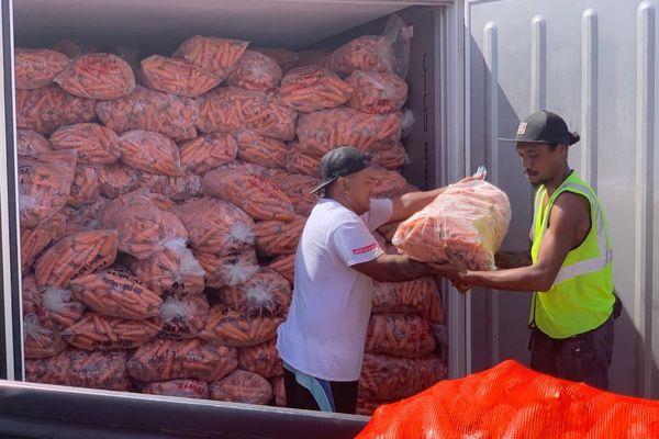 livraison miraculeuse, 100 tonnes de nourriture