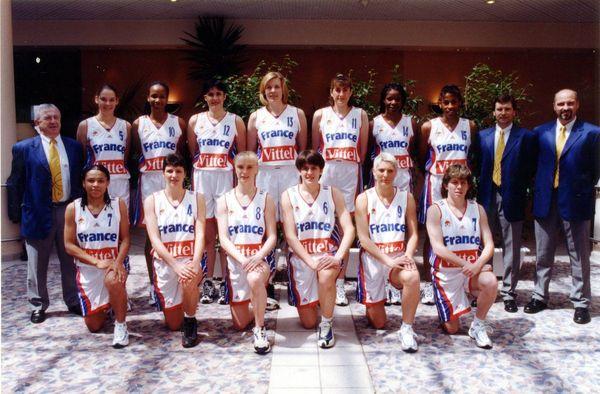 L'équipe de France de basket féminin.