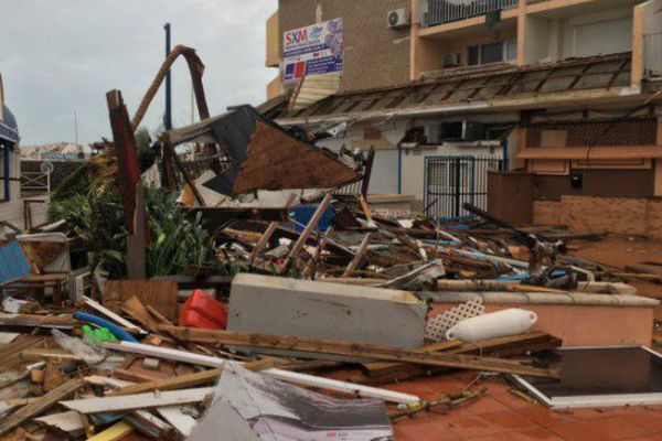 La ville de Marigot à Saint-Martin après le passage d'Irma.
