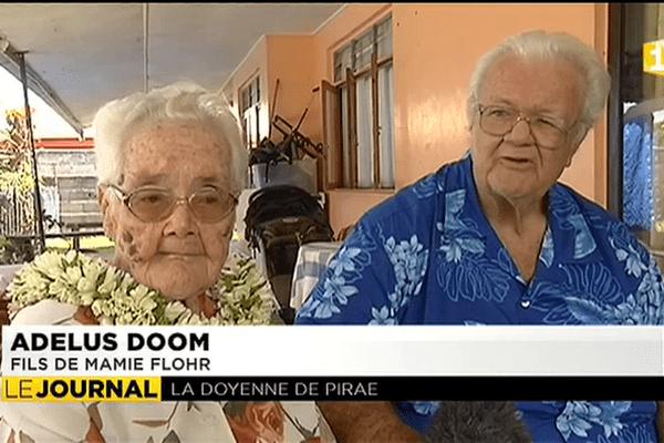 Rencontre avec Mamie Florh, 95 ans, doyenne de Pirae