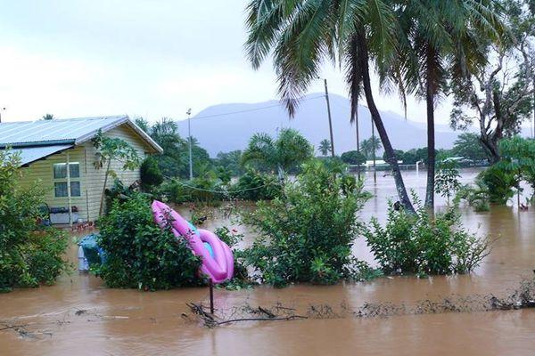 Maison inondée à Kouaoua