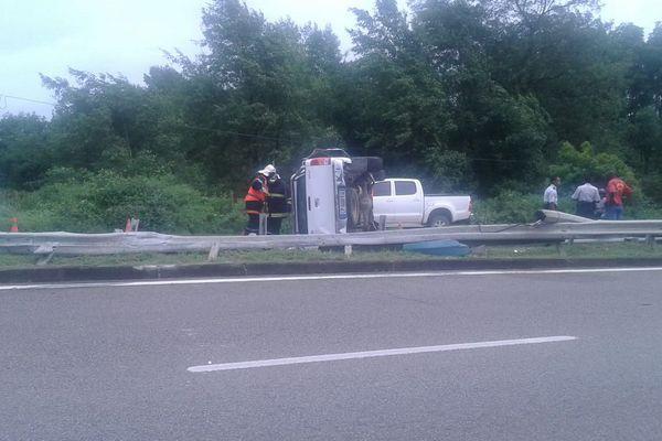 Accident sortie sud de Cayenne