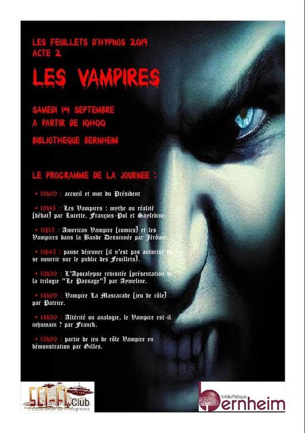 Affiche feuillets d'hypnos vampires