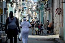 Une rue de La Havane à Cuba le 17 avril.