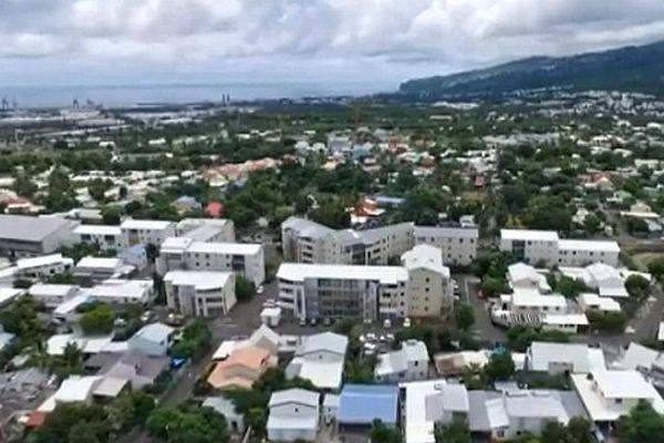 Vue aérienne de drone de La Possession