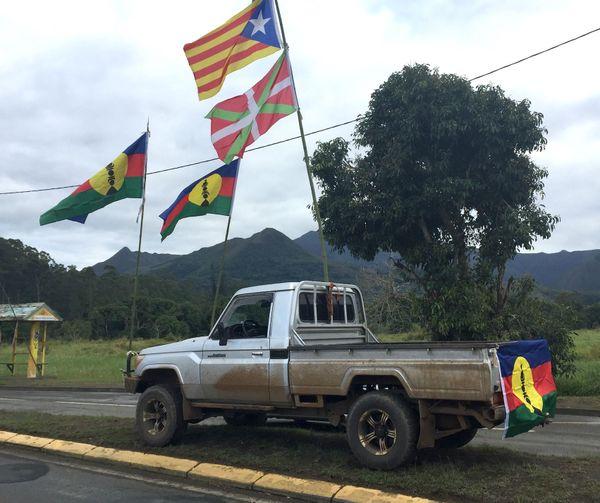 Référendum NC 2020, drapeaux kanaky, 4 août