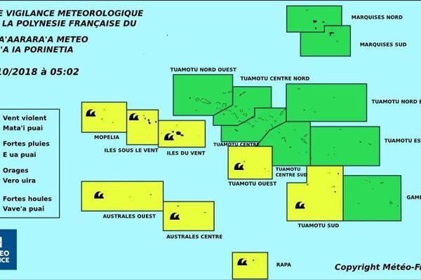Fortes houles attendues sur la Société, une partie des Tuamotu et les Australes