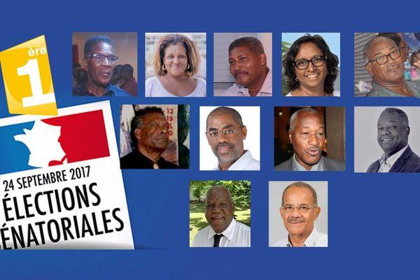Candidats sénatoriales Martinique