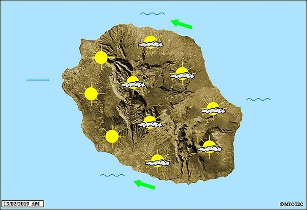 Carte météo du 13 02 2019