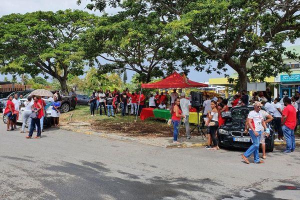 Mobilisation de l'UTHTR devant la Créole Beach