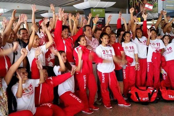 La délégation Polynésienne à embarquer pour Port Moresby