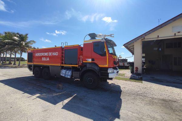 Camion des pompiers de Hao en panne