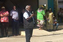 Joseph Caihe en 2019, lors de la célébration du 40e anniversaire du lycée Do Kamo.