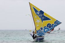 """Hugo thelier et l'équipage de """"Lewop sé nou osi"""" remportent la 2e épreuve de la saison à Saint-François"""