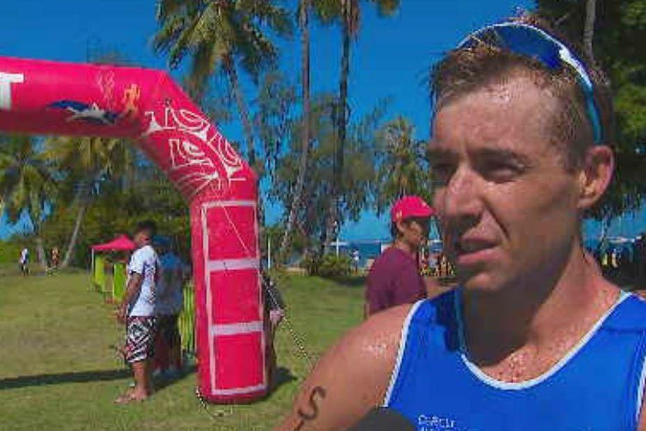 Benjamin Zorgnotti vainqueur de l'Aquathlon Punatri 2020 - Polynésie la 1ère