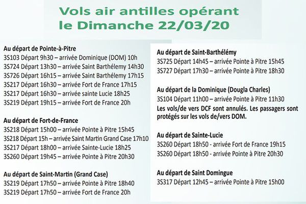 Air Antilles vols