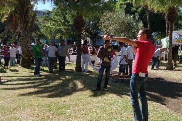 Manifestation AFJER pour la priorité à l'embauche des réunionnais