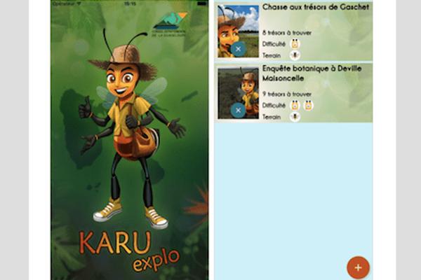 L'application Karu Explo