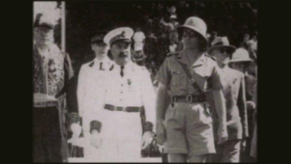 Félix Broche et le gouverneur Sautot, à Nouméa, le 5 mai 1941