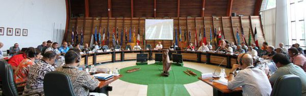 La réunion s'est déroulée en Nouvelle Calédonie