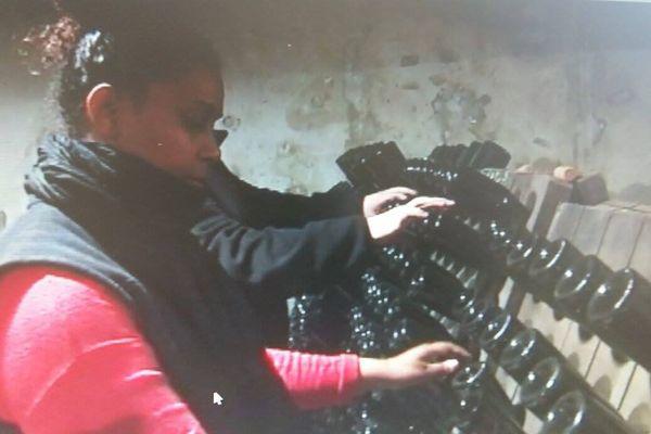 Guadeloupéenne dans le champagne
