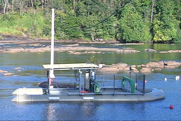 Hydrolienne de l'îlet Moulat à Camopi