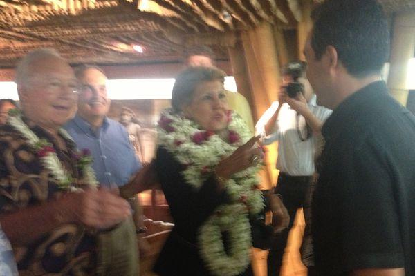 Brigitte Girardin à Tahiti 17 06 2013