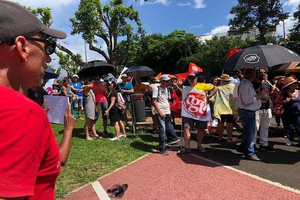 manif syndicats enseignants 060220