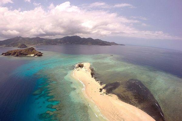 Vue d'îlots à Mayotte