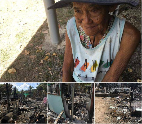 Huahine : une maison détruite par le feu