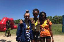 Podium minimes filles de la course en mer avec la médaille d'or pour Inès Tyburn Pastel.