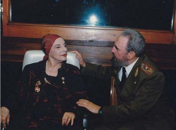 Alicia Alonso avec Fidel Castro