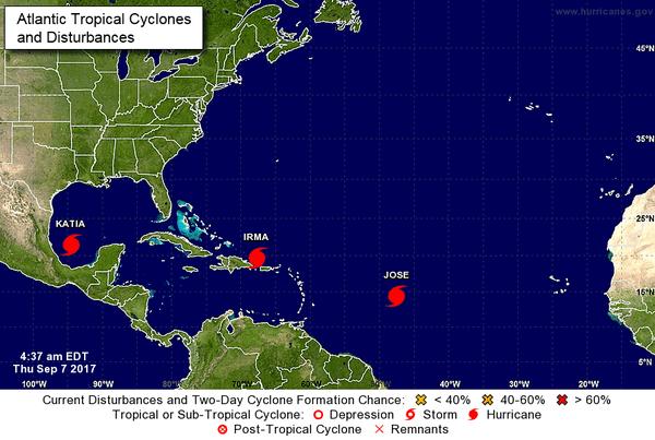 NHC 3 cyclones