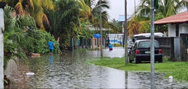 le village Saramaka de Kourou inondé