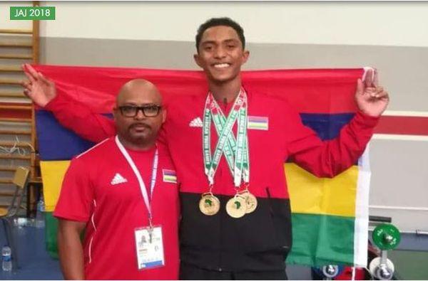 Le jeune mauricien décroche 3 médailles d'or aux JAJ