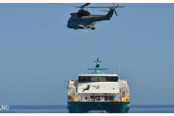 Orsec maritime: hélitreuillage