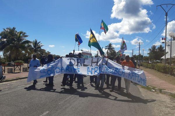 Manifestation Usine du Sud Lifou 18 novembre 2020