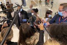 L'arrivée de Marie-Louisia Jean-Philippe, vendredi matin au palais de justice de Paris