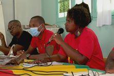 Maïté M'Toumo en conférence de presse