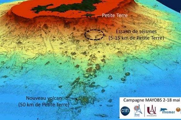 Un nouveau volcan sous-marin a été découvert à 50km à l'Est de Mayotte.